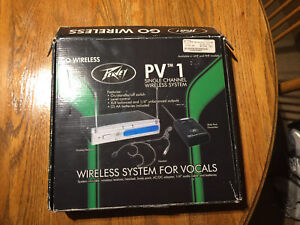 Peavey PV1 Wireless Mic System - Brand New