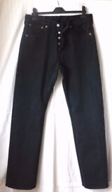 Levi Strauss 501 Button fly Black Jeans