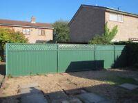 Green steel 'Colourfence' garden fence 7.8m length
