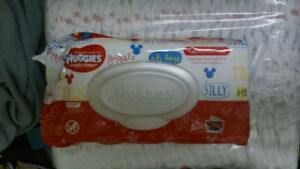 Diapers with wipes