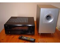 Denon AVR-3802 A / V Receiver together with the Magnat subwoofer
