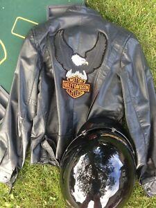 Ladies Leather jacket and helmet