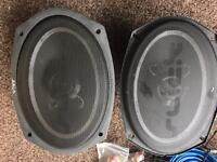 Vibe 6x9 speakers - 420 watts each with grills