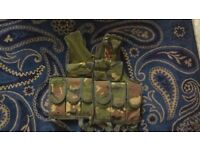 Viper woodland DPM tactical vest fits 38 inch chest, expandable upwards, lead weights optional