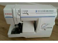 Singer heavy duty different pattern elictric sewing machine complete with foot peddle