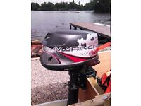Marina 4 hp outboard, 1999, 4 stroke, very reliable, starts first time. Long shaft, neutral & fwd.