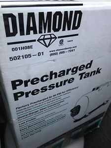 Diamond 19 gallon pre charged water pressure tank