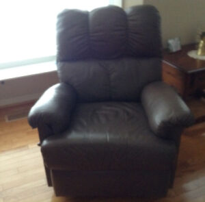 Couch and Rocker /  Recliner leather.