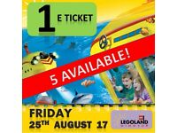 1 X LEGOLAND Windsor Tickets FRIDAY 25th AUGUST 17 - MANY TICKETS ! MANY DATES