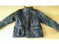 Barbour boys black quilted jacket (mint condition ) age 4-5