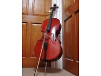 1/2 Half Size CELLO 'Stentor Student II' with NEW BOW, ROSIN & S/H Soft Case.