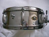 """Slingerland 130 Gene Krupa Sound King alloy snare drum 14 x 5"""" - Niles - '62-'70"""