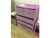 Ideal kids 4 shelf frame with drawers.