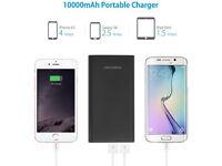 10,000mAh Portable charger Dual-Port