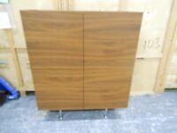 stunning teak danish sideboard with glass shelves, and glass top. can deliver