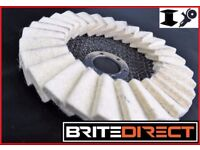 "Flap Felt Discs 125x22 5"" Polishing Angle Grinder Buffing Wheel Metal Alloy Brite Direct Ltd."