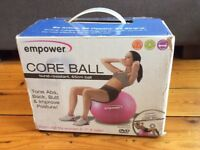 New Pink Exercise Ball with Pump, CD and Exercise Leaflet