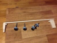Extension pole and fittings for stair gate