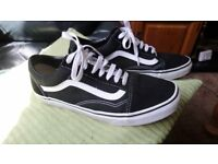 vans black and white with original box