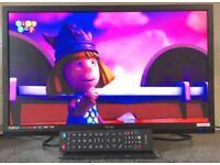 22inch Technika 22E21B Widescreen HD LED TV DVD Combi & USB Player HDMI Freeview Television