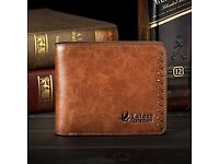 Luxury Men's retro hand-threading process ultra thin business wallet