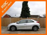 2013 Honda Civic 1.6 i-DTEC Turbo Diesel ES-T 5 Door 6 Speed Sat Nav Bluetooth C