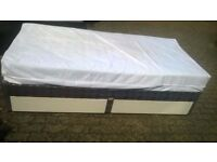 single bed with mattress . free delivery