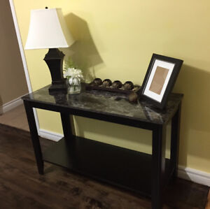 Stunning Marble Top Modern Contemporary Console Table NEW IN BOX