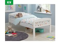 HOME Toddler Bed - White along with Mattress