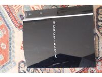 Playstation 3 Console gaming unit broken not working black plus extra games if you want ps3