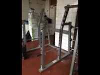 Two heavy duty squat racks for sale