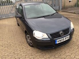 Volkswagen polo 2009, petrol 1.2 manual, 3 door hatchback, HPI CLEAR, low insurance and tax
