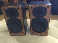 TANNOY mercury m1 - Cherry bookshelf hifi speakers - excellent sound spectrum
