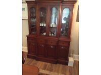 Mahogany Display cabinet/sideboard