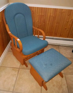 Rocking Chair With Matching Stool