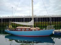 Amble Class Wooden Cruising Yacht built in 1973 .Powered by a Dolphin Engine a recent Survey done