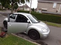Year 2000 VW Beetle Breaking for Parts
