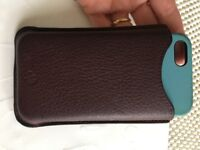 Mulberry leather phone pouch