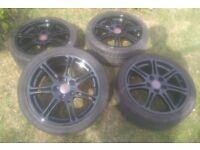 "17"" ENKEI Honda Civic Type R EP3 OEM Black alloy wheels 5x114.3 EP2"