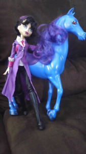 Mrs Bloodgood and her horse Monster High