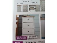 2 brand new still in package bedside cabinets
