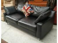 Modern black sofa in vgc can deliver 07808222995