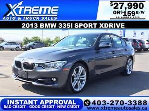 2013 BMW 335I SPORT XDRIVE $159 B/W APPLY NOW DRIVE NOW
