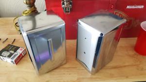 Old style chrome napkin holders.
