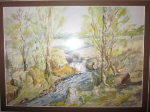 Lovely ORIGINAL Watercolour Painting Signed by late Artist