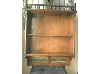 Antique wall mounted shelf unit