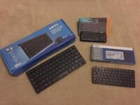 3x Bluetooth Keyboards