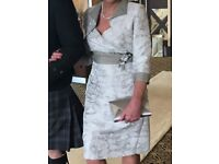Stunning Mother of the Bride outfit (dress, jacket, hat, jewellery and bag)