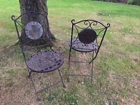 2 x Beautiful, Solid metal Patio Chairs - Brand New in Box