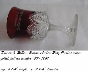 Antique Ruby Flashed Water Goblet